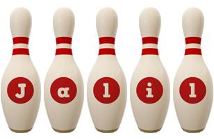 Jalil bowling-pin logo