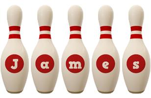 James bowling-pin logo