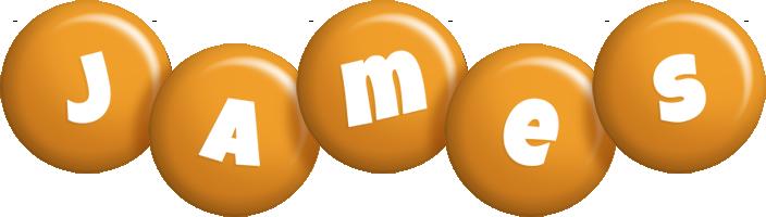 James candy-orange logo