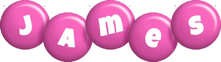 James candy-pink logo