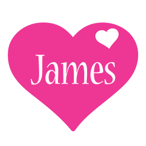 James love-heart logo