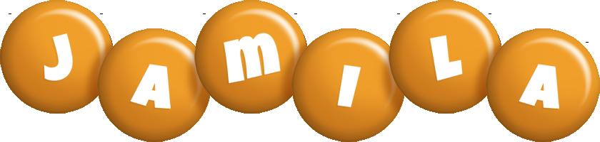 Jamila candy-orange logo