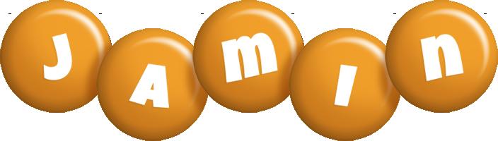 Jamin candy-orange logo