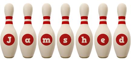 Jamshed bowling-pin logo