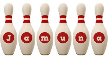 Jamuna bowling-pin logo