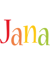 Jana birthday logo