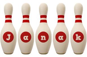 Janak bowling-pin logo
