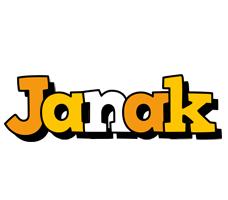 Janak cartoon logo