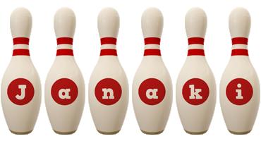 Janaki bowling-pin logo
