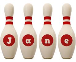 Jane bowling-pin logo
