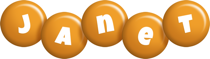 Janet candy-orange logo