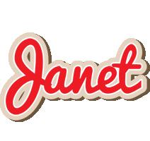 Janet chocolate logo