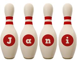 Jani bowling-pin logo