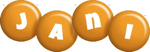 Jani candy-orange logo