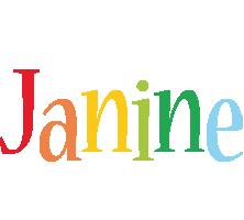 Janine birthday logo