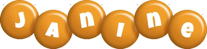 Janine candy-orange logo