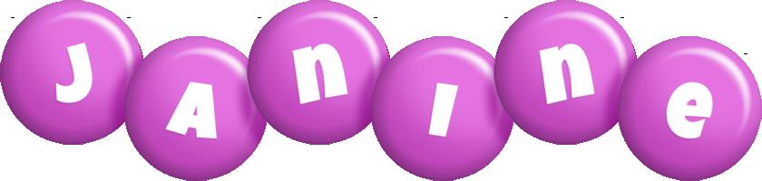 Janine candy-purple logo