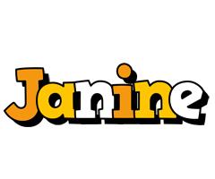 Janine cartoon logo