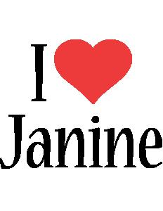Janine i-love logo