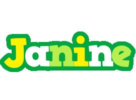 Janine soccer logo
