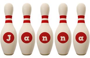 Janna bowling-pin logo