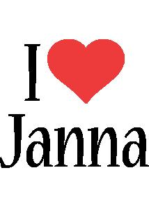 Janna i-love logo