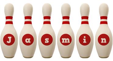 Jasmin bowling-pin logo