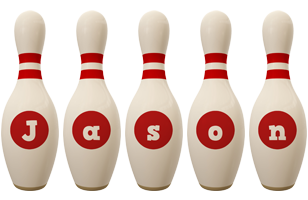 Jason bowling-pin logo