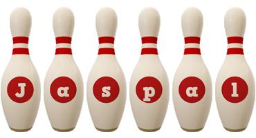 Jaspal bowling-pin logo