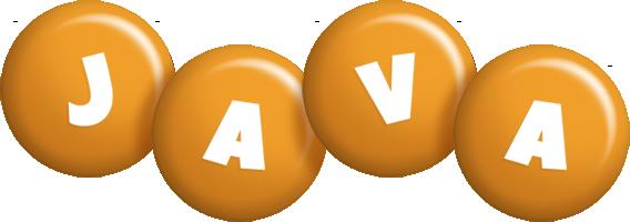 Java candy-orange logo