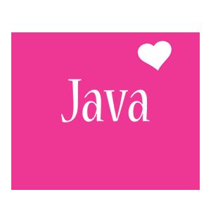 Java love-heart logo