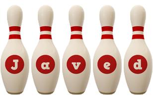 Javed bowling-pin logo