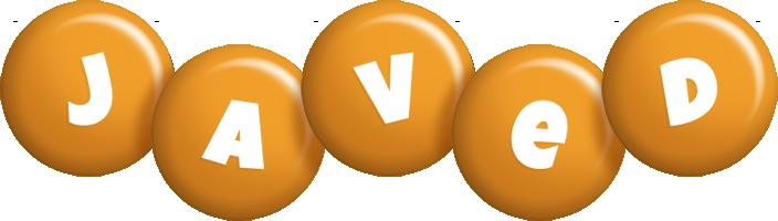 Javed candy-orange logo
