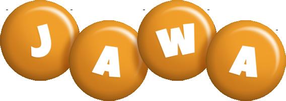 Jawa candy-orange logo