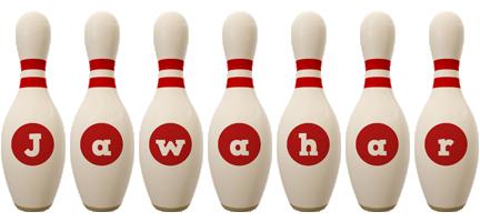 Jawahar bowling-pin logo