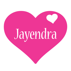 Jayendra love-heart logo