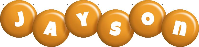 Jayson candy-orange logo