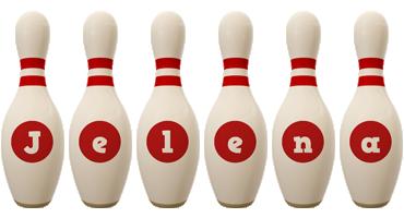 Jelena bowling-pin logo