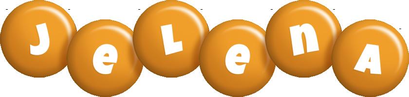 Jelena candy-orange logo