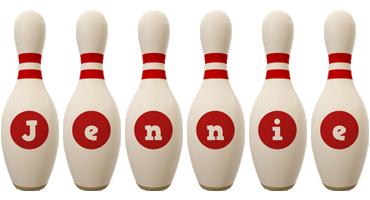 Jennie bowling-pin logo