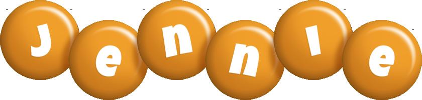 Jennie candy-orange logo