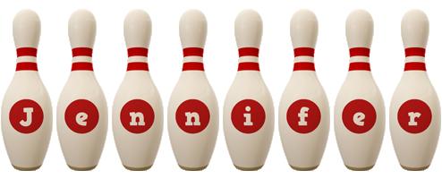 Jennifer bowling-pin logo