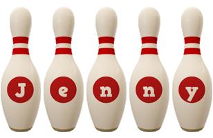 Jenny bowling-pin logo