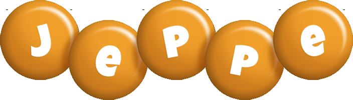 Jeppe candy-orange logo