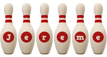 Jereme bowling-pin logo