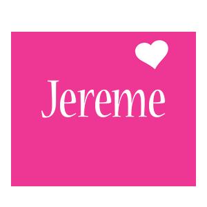 Jereme love-heart logo