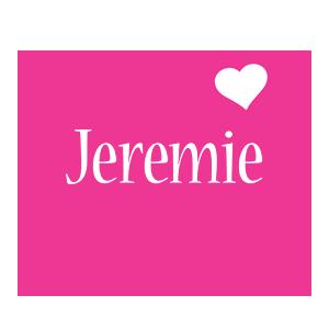 Jeremie love-heart logo