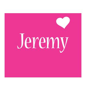 Jeremy love-heart logo