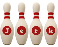 Jerk bowling-pin logo