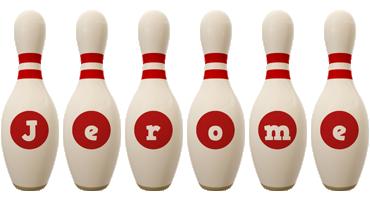 Jerome bowling-pin logo